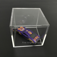 Premium Clear 5 Sided Acrylic Display Case Available With Additional Base