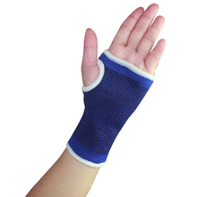 50pairs/lot Cotton Elastic Wrist Hand Palm Protectors Breathable Fingerless Gloves Unisex Sports Exercise Outfits os722