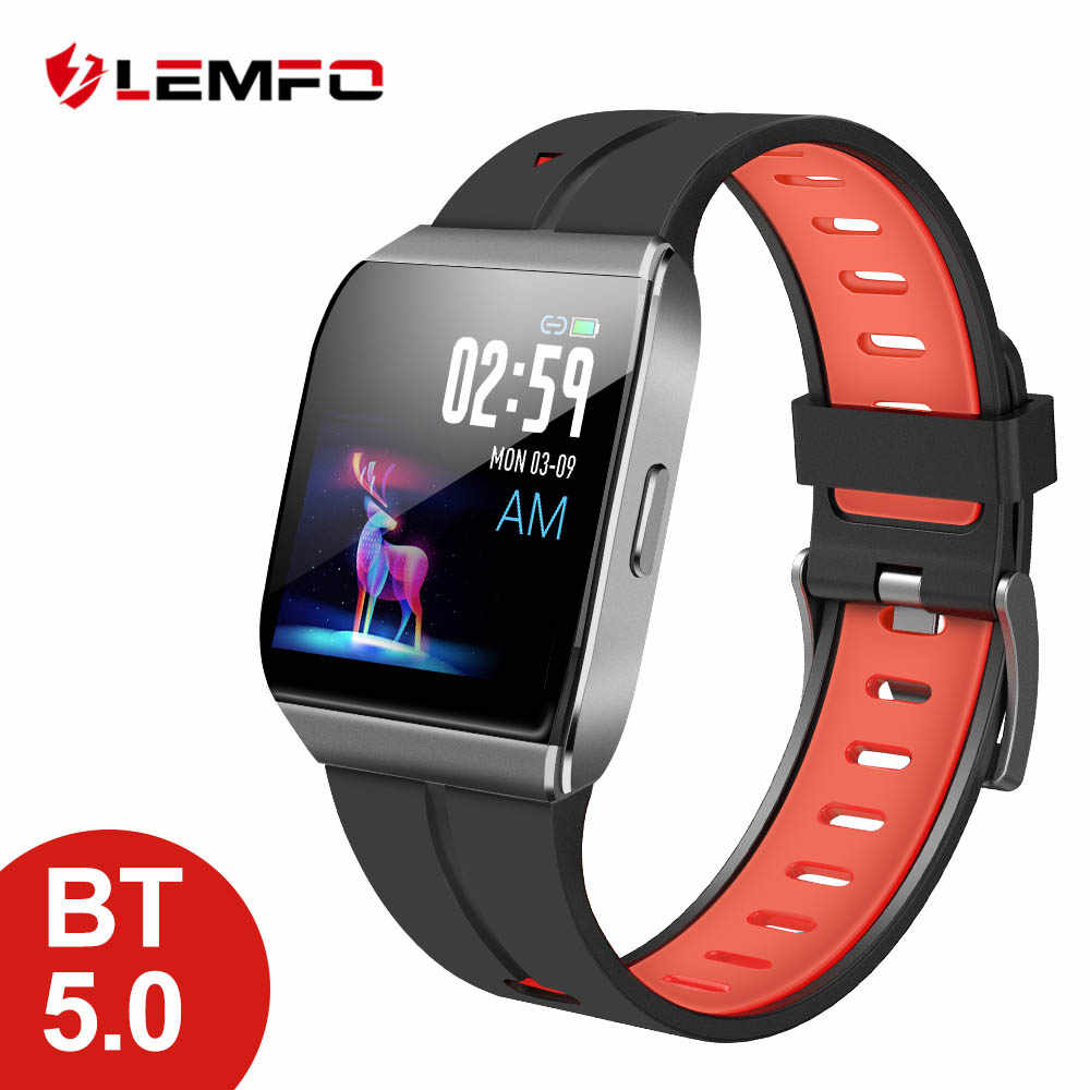 LEMFO X1 Smart Watch 1.3 Inch Large Display Alloy Case IP68 Waterproof Heart Rate Monitor 30 Days Long Time Standby Smartwatch