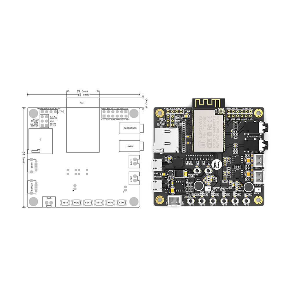 Image 4 - ESP32 Aduio Kit WiFi+ Bluetooth module ESP32 serial to WiFi ESP32 Aduio Kit audio development board-in Replacement Parts & Accessories from Consumer Electronics