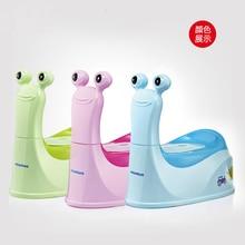 Мультяшная Улитка Горшок детский горшок обучающее сиденье маленький ящик розовый синий зеленый цвет