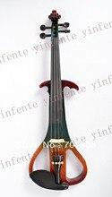 Eine Neue 4/4 elektrische violine Cocktail farbe Schönen Klang massivholz