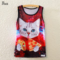 BLACK Brand Summer Style Women Tank Top Cat Eating Tacos Pizza Space Galaxy Prit High Quality Clothing Harajuku Tank Tops