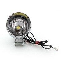 Areyourshop Universal LED Angel Eye Headlight Headlamp Replacement Driving Moto Fog Light COB for Harley Dyna Glide Chrome