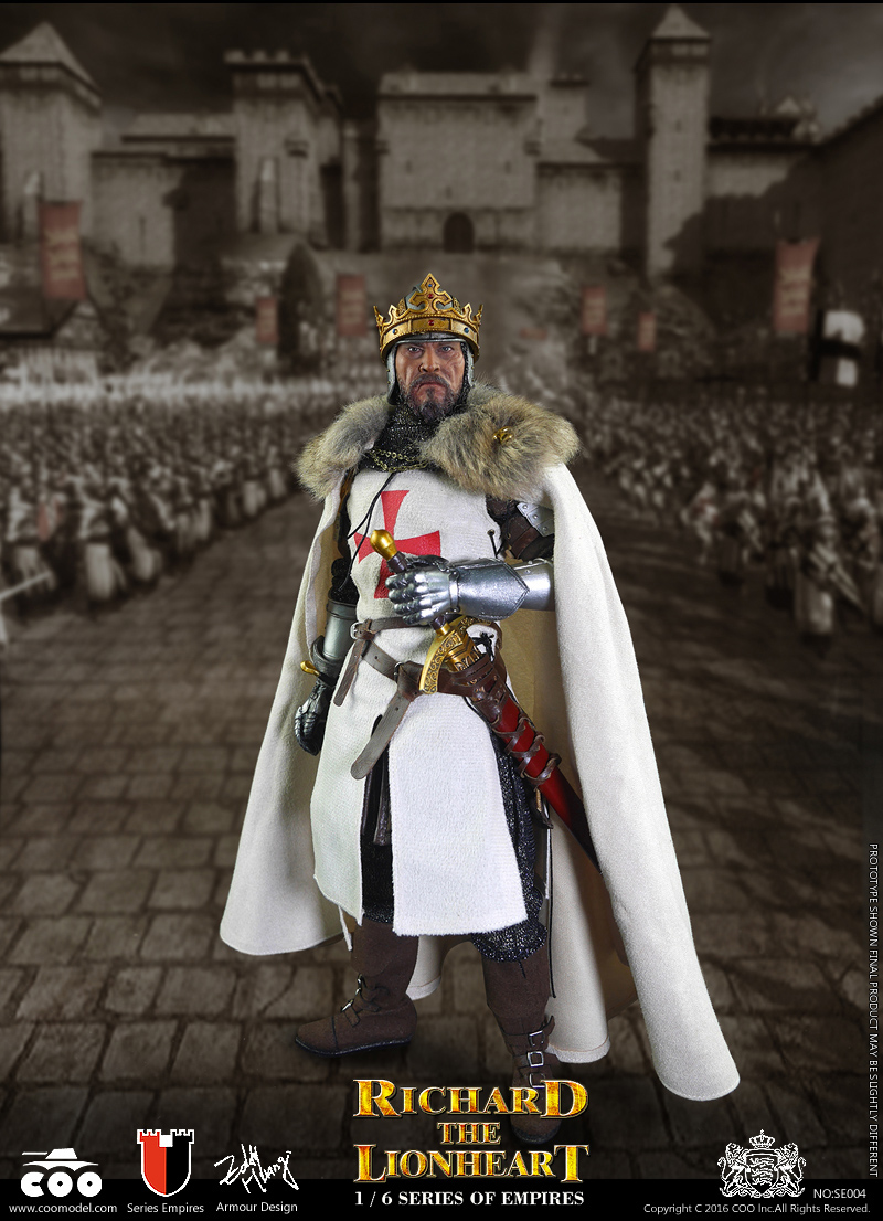 1/6 scale figure doll Empires Medieval crusaders Richard the Lionheart 12 Action figure doll Collectible Figure Plastic model prince lionheart backseat organizer
