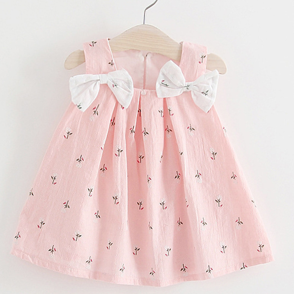 Funny Baby Girls Bows Print Tutu Dress Baby Girl First Birthday Party Dress Sleeveless Princess Dress For Kids Dropshipping 2