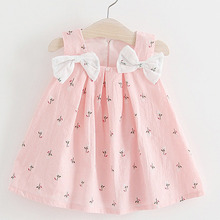 Funny Baby Girls Bows Print Tutu Dress Baby Girl First Birth