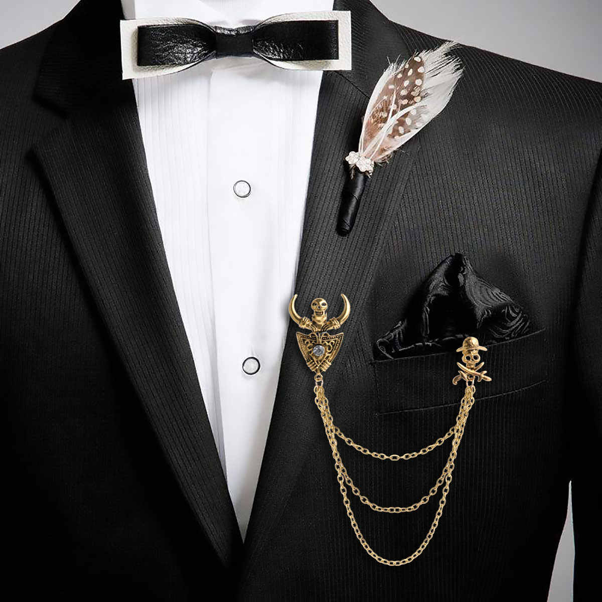 남여 우아한 옷깃 핀 블라우스 카디건 셔츠 칼라 클립 목 팁 술의 체인 브로치 빈티지 고딕 diy 쥬얼리 핀 브로치
