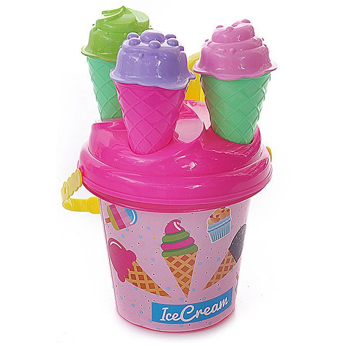 Kids Baby Beach Sand Toys Small Cake Mould Spoon Ice Cream Pudding Beach Play Sand And Snow Play