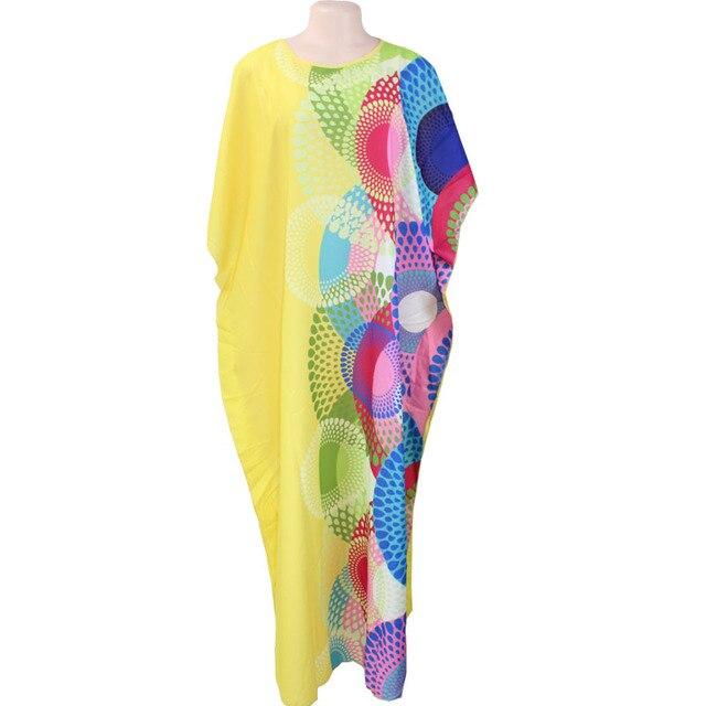 Di nuovo Modo di Chiffon Dimensioni Super-Africano Allentato Lungo Dashiki Tradizionale Vestito Per La Signora (XF02)