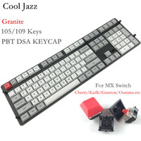 Cool Jazz DSA dye sublimation pbt 108 keycap Kailh Gateron Cherry mx switch keycaps Granite layout for mechanical keyboard