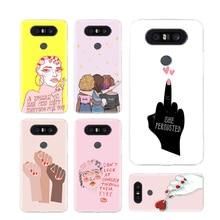 Feminist Girls Phone Cases For LG V40 G6 G7 Q6 Q8 Q7 G5 G4 V30 V20 V10 K8 K10 2018 2017 Covers Coque Shell the wolf fierce phone cases for lg v40 g6 g7 q6 q8 q7 g5 g4 v30 v20 v10 k8 k10 2018 2017 covers coque shell