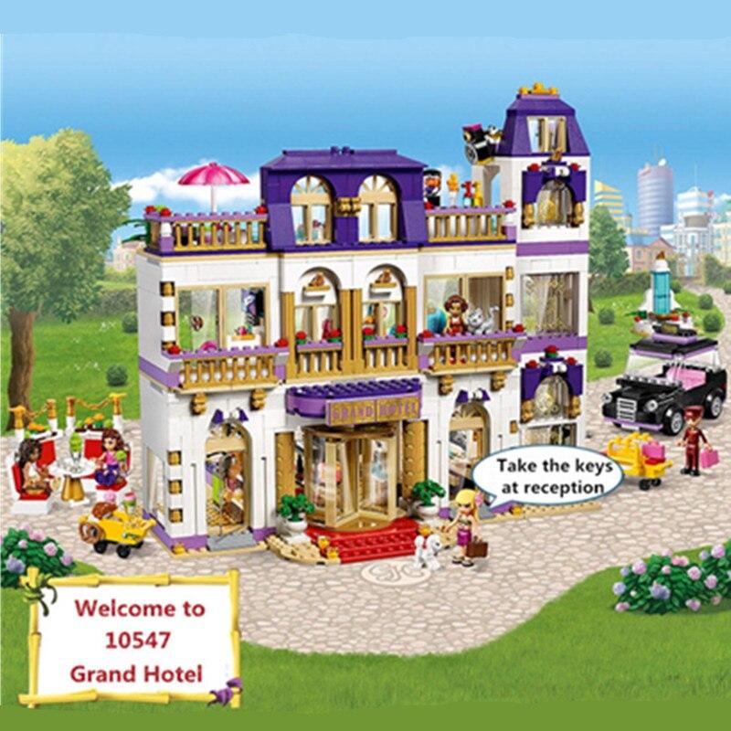 1585 шт. Бела Diy Друзья серии Heartlake Grand Hotel Совместимость с Legoingly здание игрушечный конструктор подарок для детей