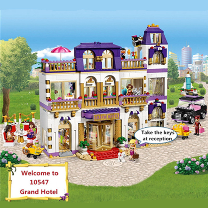 1585pcs bela Diy Friends series Heartlake Grand Hotel Compatible with Legoingly Building Block Brick Toys gift