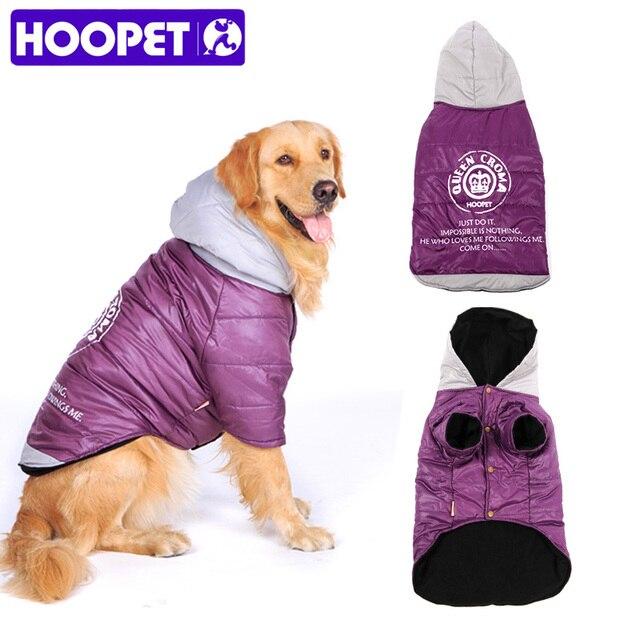 HOOPET Grande vestiti Del Cane Cane di Grandi Dimensioni Cappotto Viola Caldo Co