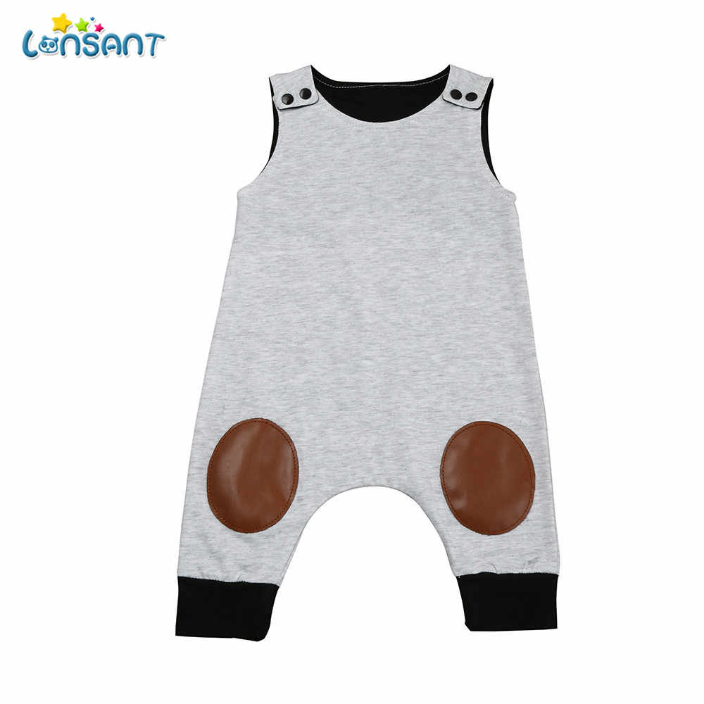 LONSANT Baby Clothes New Year Newborn Infant Baby Boy Lightning Pattern Jumpsuit Romper Outfits Clothes E0740