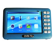 Digital DVB T2 Mini Handheld TV Receiver Mit 4,3 zoll Lcd-bildschirm für DVB-T2/DVB-T/FM Unterstützung Muisc USB-Video-Player TV Box