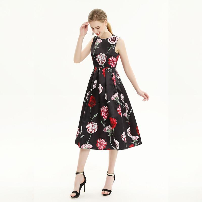2018 verano nuevo sin mangas impreso chaleco vestido de mujer 1904110z01-in Vestidos from Ropa de mujer    1