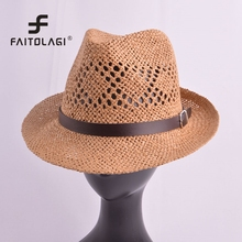 Hollow handmade straw Woven summer hats fashion breathable b