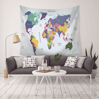 Tapestry Wall Hanging Carpet Home Decor World Map Printed Blanket Mandala Tapestry For Living Room Bedroom dropshipping