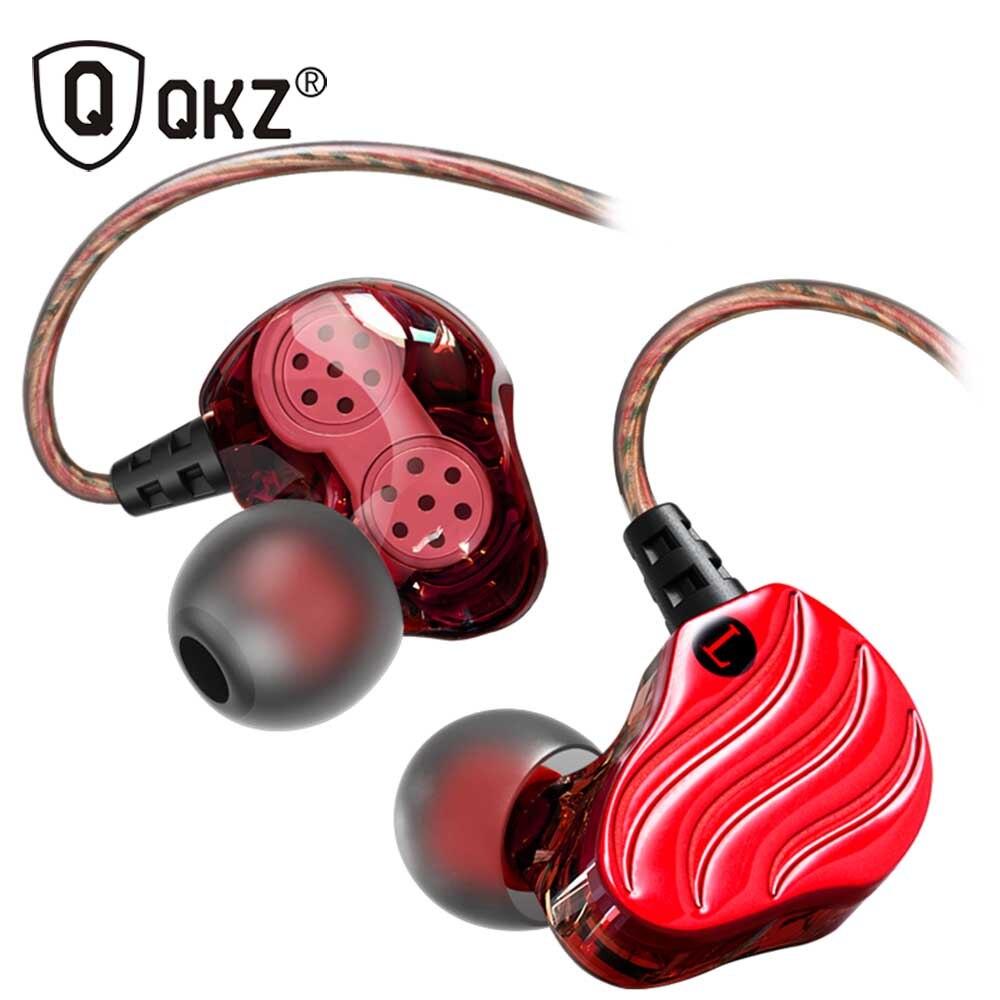 Newest QKZ KD4 Dual Drivers In-ear Wired Earphones headphones sports ear hook for iphone in-ear earbuds Built-in Mic lc ccy 3 5mm plug mini in ear wired earphones for iphone 5 black 120cm