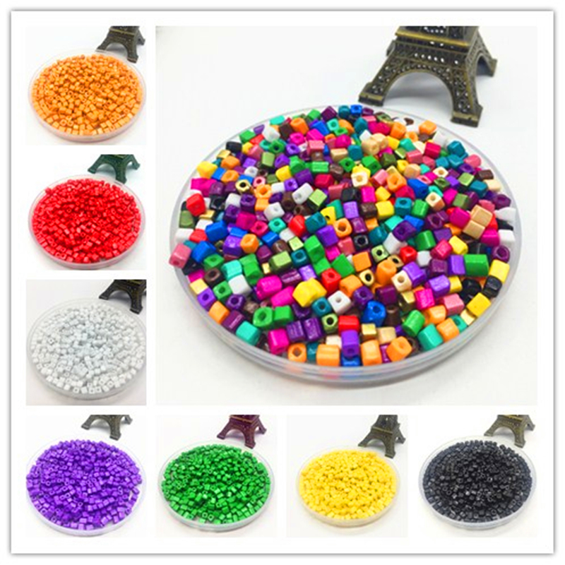 DIY 4mm 200pcs Square Czech Acrylic Seed Spacer Beads Jewelry Fitting Crafts