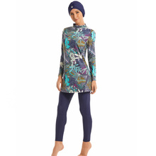 Traje de baño musulmán para mujer, traje de baño Hajib islámico, cubierta completa, Burkinis conservador, ropa de baño de talla grande