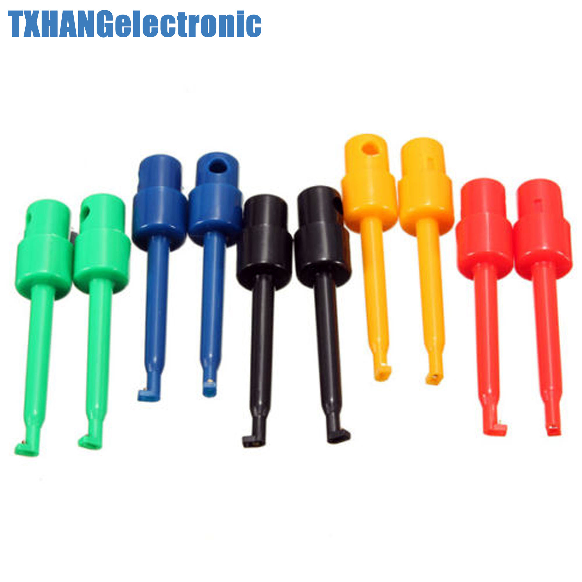 2PCS Large Size Round Single Hook Clip Test Probe for