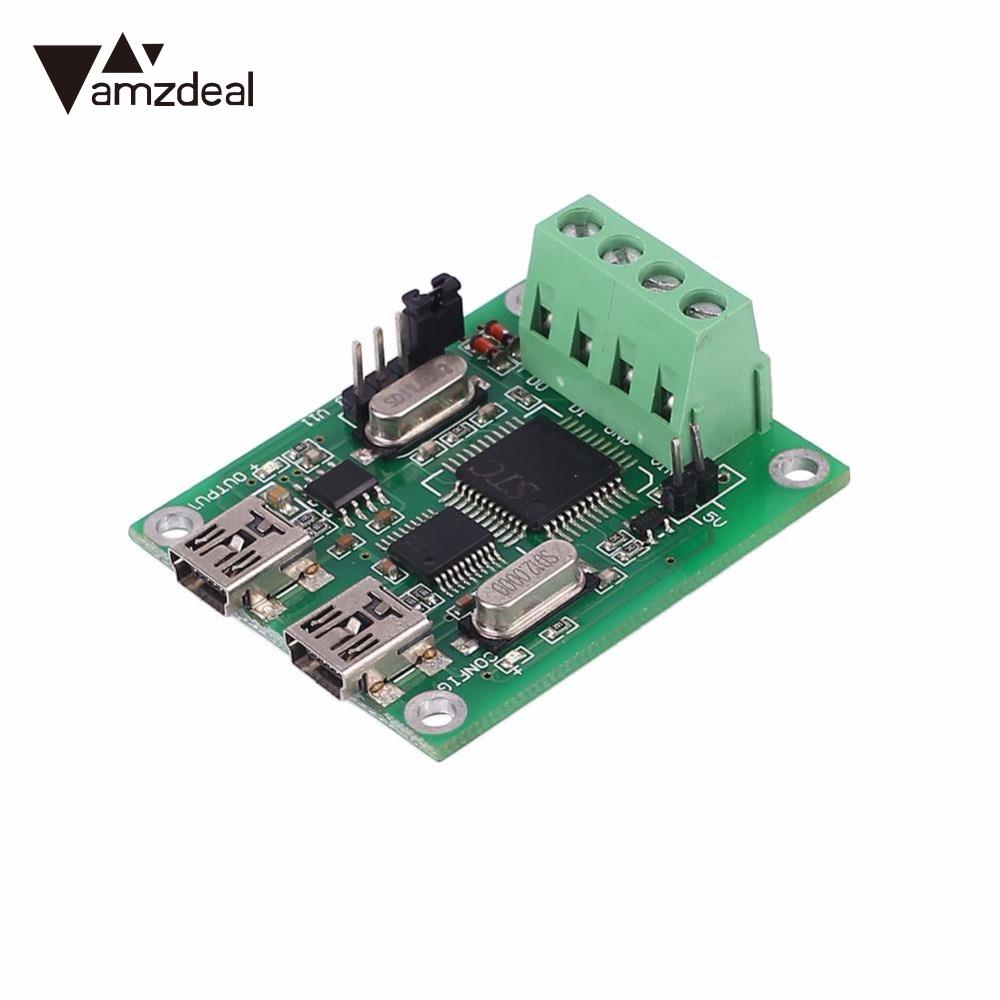 amzdeal 2 USB Ports USB/RS232 Converter Adapter Electronic USB Converter Interchange Communication Board Components For Wiegand потребительская электроника oem 2 4 8 usb 2 0 converter 003