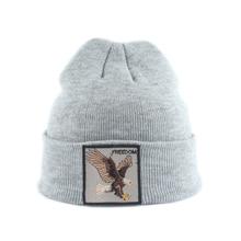 Детская шапочка с вышивкой животных, зимние шапки для детей, для мальчиков и девочек, Skullies, детская теплая вязаная шапка, шапка SkullCap