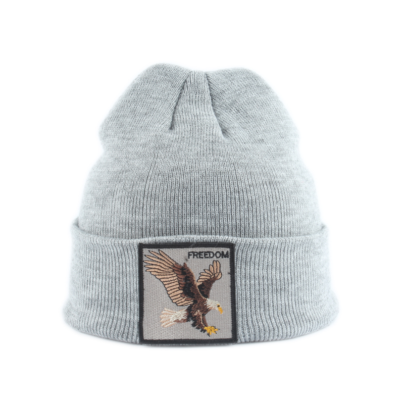Animal Embroidery Boys   Skullies     Beanies   Kids Baby Winter Cap Children Warm Knited Hat Bonnet SkullCap