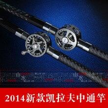Kevlar fishing rod3.6/4.5/5.4/6.3 meters ultra hard ultra-Right Reel one piece carbon+spree+original terminal