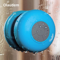 Bluetooth Hoparlör Telefon MP3 için Taşınabilir Kablosuz Mini Su Geçirmez Duş Hoparlörler Bluetooth El Ücretsiz Araç Hoparlör BS001