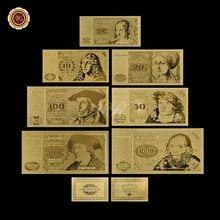 Billet de banque en métal or, bas prix, feuille d'or, Album allemand, 5 10 20 50 100 500 1000