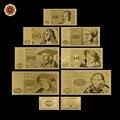Metal Ouro Banknote Álbum Alemanha 5 10 20 50 100 500 1000 Marcos Alemães Baixo Preço Folha de Ouro de Notas para Lembrança