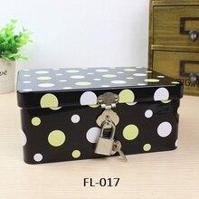 Жестяная коробка, органайзер, коробка безопасности, шкатулка, косметические ювелирные изделия, контейнеры, подарок, украшение, подарок