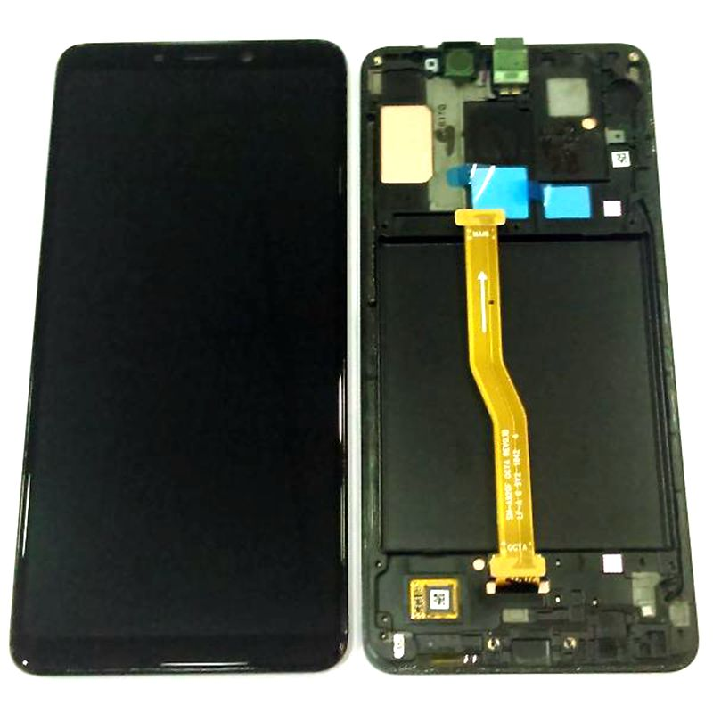 Amoled For Samsung A9 2018 A920 A920F Lcd Screen Display With Touch Glass Digitizer Frame Full Replacement Sensor Parts