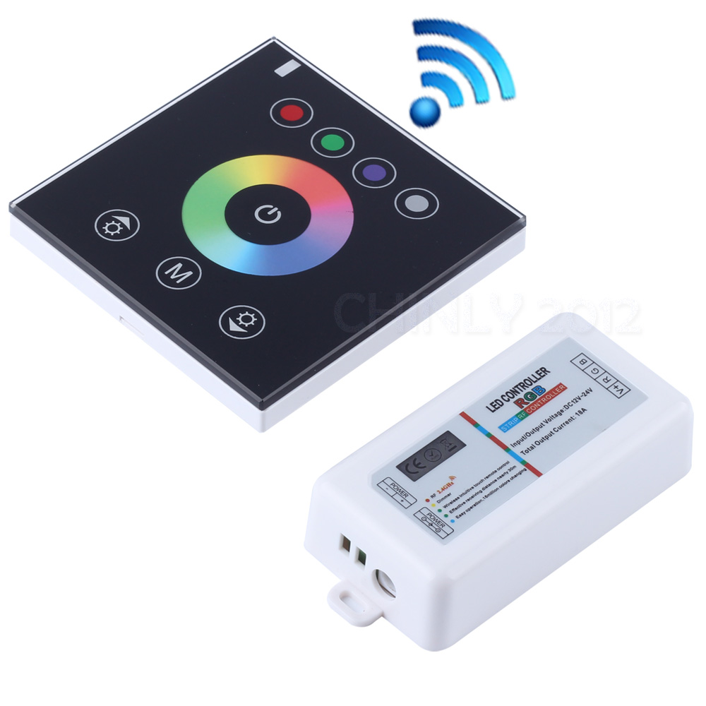 Led Strip Light Wall Dimmer: RGB 2.4G Wireless Wall Switch Touch Controller Led Dimmer