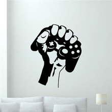 Gamer Gamepads Wall Decal Gaming Joystick Gamepad Video Game Wall Sticker Video Game Wall Art Kids Boy Room Home Decor X403