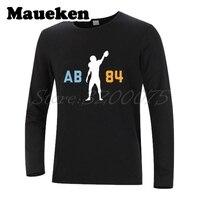 Męska Koszulka Z Długim Rękawem Ubrania Pittsburgh Antonio Brown 84 AB Ubrania T Shirt steelers mężczyzn Jesień Zima W171065