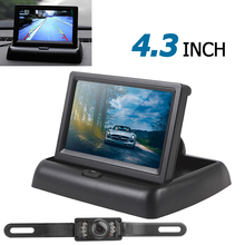 4.3 Inch 480 x 272 TFT LCD Color 2-channel Input Car Rear View Monitor + 7 IR LED Backup Night Vision Camera