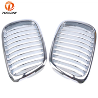 POSSBAY Plating Chrome Front Hood Kidney Grill Grille for BMW 5 Series E39 535i/540i/540iP/M5 Touring 1997 2004 Car Styling