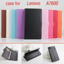 9 color Classic Leather case For Lenovo A7600 / S8 / A7600-m Flip Cover case housing With Card Slot A 7600 S 8 Phone Cover Cases