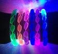 12 шт./лот Горячие Продажи игрушки Светятся В Темноте Флэш-браслет светящиеся игрушки световой кольцо руки световой светодиодные палочки Диаметр 7 СМ