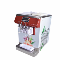 ICM 335 Three Color Ice Cream Countertop Soft Serve Ice Cream Machine Frozen Yogurt Ice Cream