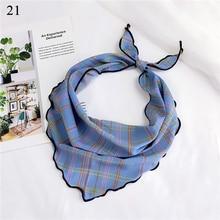 33X85cm Small Silk Scarf Dot Print Head Neck Hair Tie Band Neckerchief Triangle Fashion DIY Bags Caps 36 Color New Style