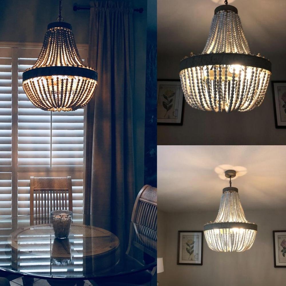 Rustic Wooden Pendant Light