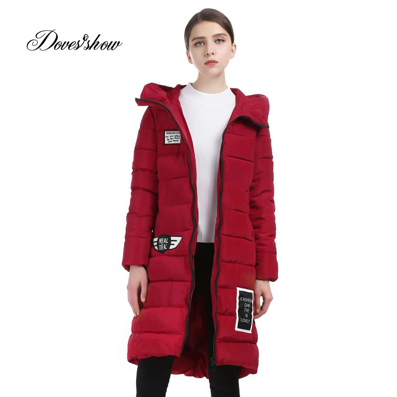 Doves Show Solid Color Long Women Winter Jacket Women Fashion Padded Coat Hooded Overcoat Women Parka Casaco Feminino 9022 wzsm new laptop lcd lvds video cable for asus x550 x550va x550vb x550c x550l laptop cable p n 1422 01fv000