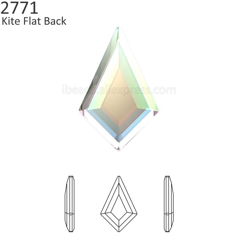 (2 pieces) 100% Original Crystals from Swarovski 2771 Kite Flat Back stone  no b1b9b9764454