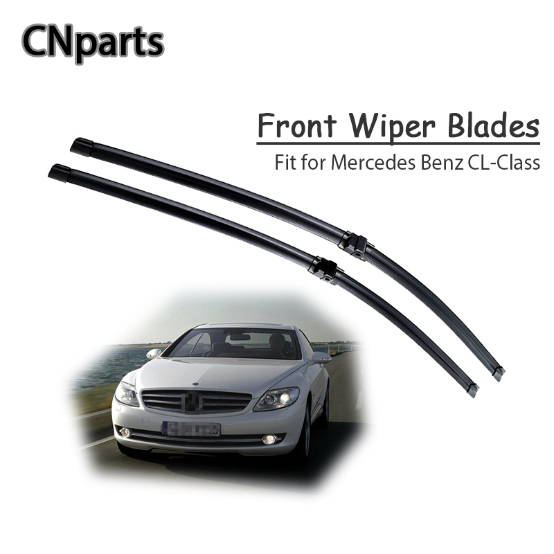 CNparts Car Windshield Soft Rubber Front Wiper Blades Arm Kit For <font><b>Mercedes</b></font> Benz <font><b>CL</b></font> Class W215 W216 <font><b>CL</b></font> <font><b>500</b></font> 55 63 65 AMG Wiper image